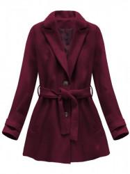 Dámsky prechodný kabát 18808, bordový