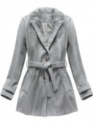 Dámsky prechodný kabát 18808, sivý