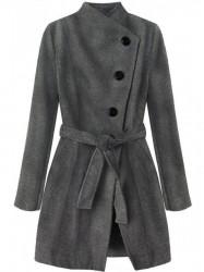 Dámsky prechodný kabát 196ART, tmavo sivý