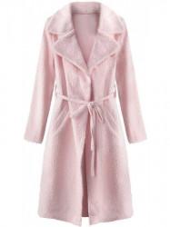 Dámsky prechodný kabát 22593, púdrovo ružový