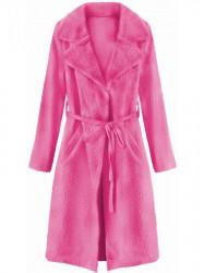 Dámsky prechodný kabát 22593, ružový