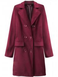 Dámsky prechodný kabát 22791, bordový