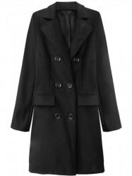 Dámsky prechodný kabát 22791, čierny