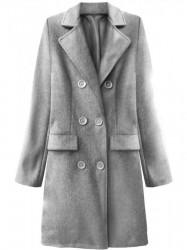 Dámsky prechodný kabát 22791, svetlo sivý