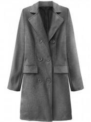 Dámsky prechodný kabát 22791, tmavo sivý