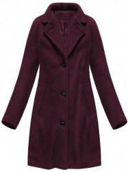 Dámsky prechodný kabát 23086, bordový