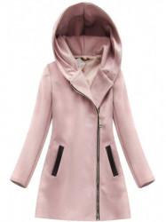 Dámsky prechodný kabát 6766, ružový