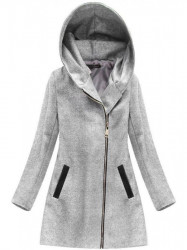 Dámsky prechodný kabát 6766, svetlo sivý