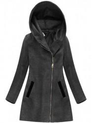 Dámsky prechodný kabát 6766, tmavo sivý