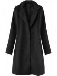 Dámsky prechodný minimalistický kabát 3106, čierny
