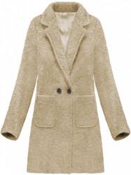 Dámsky prechodný vlnený kabát 179ART, béžový