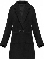Dámsky prechodný vlnený kabát 179ART, čierny
