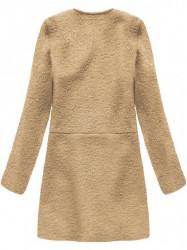 Dámsky prechodný vlnený kabát 22643, béžový #1