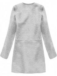 Dámsky prechodný vlnený kabát 22643, sivý #1