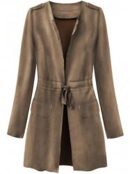 Dámsky semišový plášť 197ART, hnedý