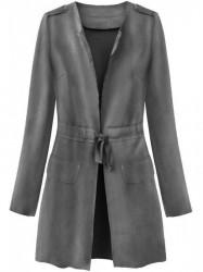 Dámsky semišový plášť 197ART, sivý