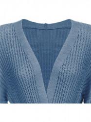 Dámsky sveter s viazaním v páse 123ART, modrý #1