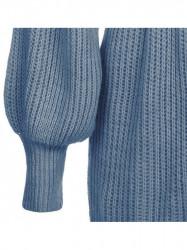 Dámsky sveter s viazaním v páse 123ART, modrý #2