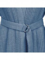 Dámsky sveter s viazaním v páse 123ART, modrý #3