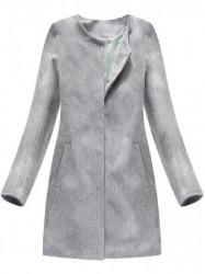 Dámsky svetlo sivý prechodný kabát 172ART
