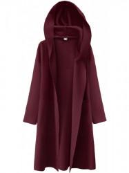 Dámsky tenký plášť s kapucňou 274ART, bordový