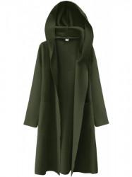 Dámsky tenký plášť s kapucňou 274ART, khaki