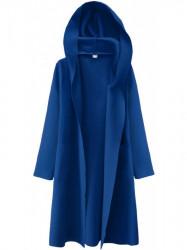 Dámsky tenký plášť s kapucňou 274ART, modrý