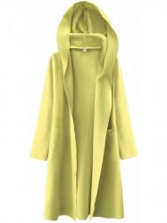 Dámsky tenký plášť s kapucňou 274ART, žltý