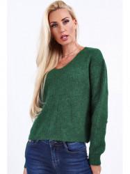 Dámsky zelený sveter 10020