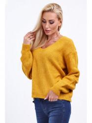 Dámsky žltý sveter 10020
