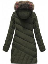 Diagonálne prešívaná zimná bunda BH-1849 army #1