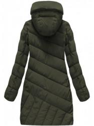 Diagonálne prešívaná zimná bunda BH-1849 army #3