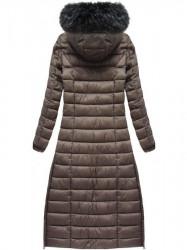 Dlhá dámska zimná bunda 7758, hnedá