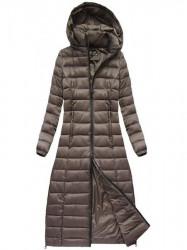 Dlhá dámska zimná bunda 7758, hnedá #1
