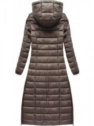 Dlhá dámska zimná bunda 7758, hnedá #2