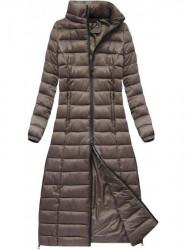 Dlhá dámska zimná bunda 7758, hnedá #3
