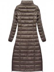 Dlhá dámska zimná bunda 7758, hnedá #4