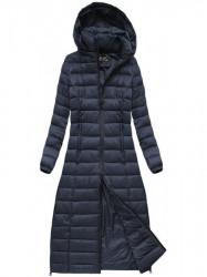 Dlhá dámska zimná bunda 7758, tmavo modrá #2