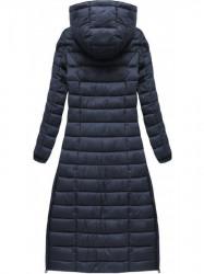 Dlhá dámska zimná bunda 7758, tmavo modrá #3