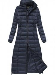 Dlhá dámska zimná bunda 7758, tmavo modrá #4