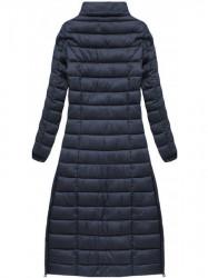Dlhá dámska zimná bunda 7758, tmavo modrá #5