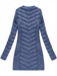 Dlhá prechodná bunda 21809, modrá