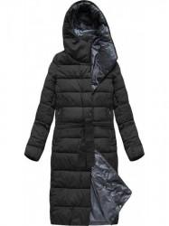 Dlhá zimná bunda s kapucňou 7704 čierna