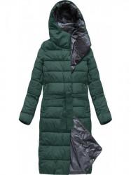 Dlhá zimná bunda s kapucňou 7704 zelená