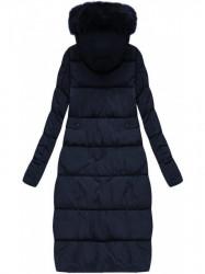 Dlhá zimná bunda, tmavo modrá R3581 #1