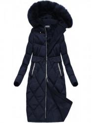 Dlhá zimná bunda, tmavo modrá R3581 #2