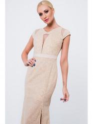 Dlhé šaty so vzormi G5034, béžové #2