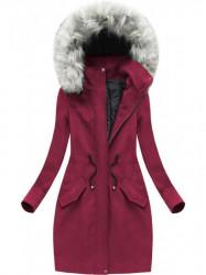 Dlhý kabát bordový (72ART)