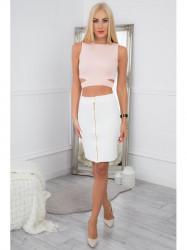 Ecru, elegantná zostava sukne a topu