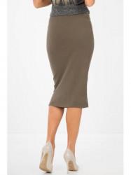 Elegantná kaki sukňa